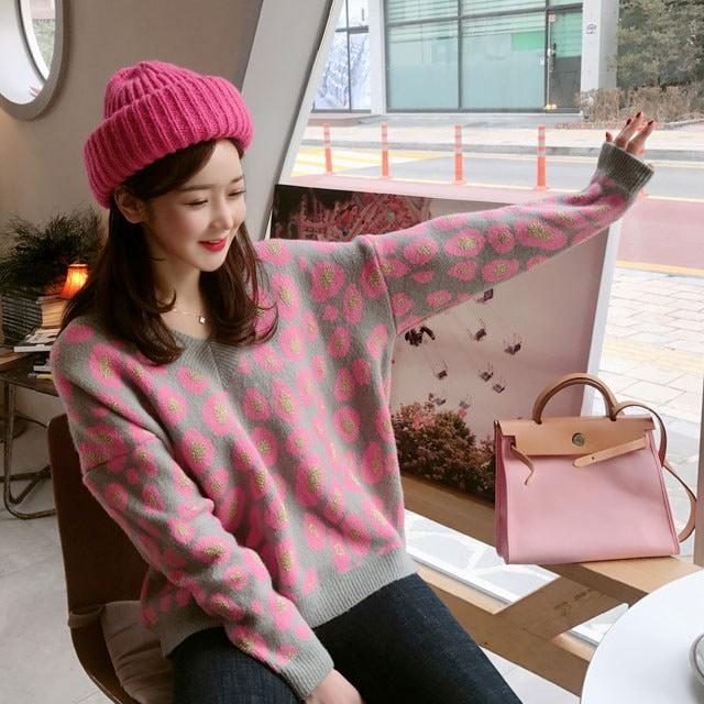 Lovely Torii V Neck Knit Korean fashion style