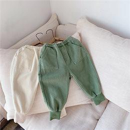 2020秋の新製品子供服、男の子と女の子韓国綿ハーレムパンツ、カジュアルパンツ