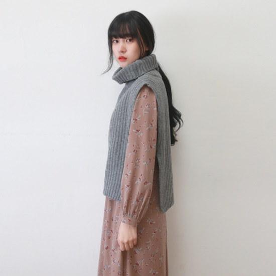 デイリー・マンデーWool turtle neck vestベスト ベセチュウ / ニット・ベスト/ 韓国ファッション