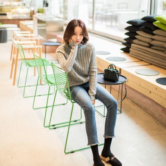ララエルデイリーゴルジニット ニット/セーター/ニット/韓国ファッション