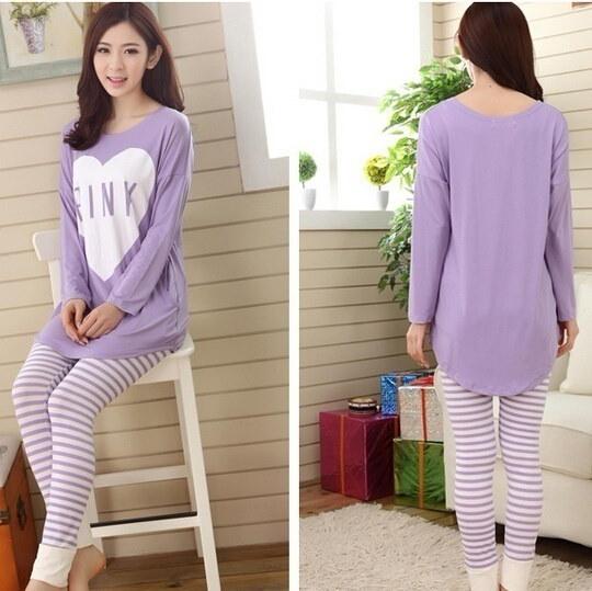 2016冬の女性のパジャマは、秋のパジャマの睡眠を設定します。Pijamas mujer女性のための家庭用品