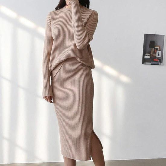 オーサムアメリアラウンドニットスーツ233904 綿ワンピース/ 韓国ファッション