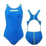 3496cdcd3d1 MOWAVE モワビ スイムウェア エックスベルト ブルー ワンピース 水着 レディース 女性 フィットネス 水泳 競泳 体型カバー