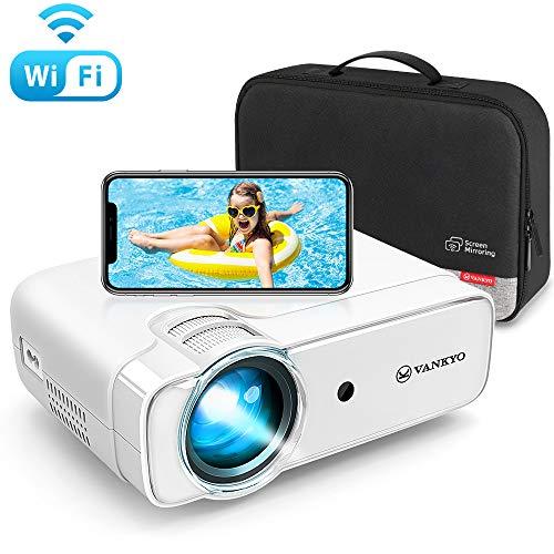 VANKYO プロジェクター 小型 4600ルーメン HDプロジェクター スマホ接続可 ホームシアター 1080Pに対応 タブレット/パソコン/DVD/TV Stick/iPhone/Android/