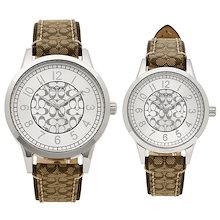 コーチ 時計 COACH 14000042 クラシック シグネチャー ペアウォッチ レディース/メンズ 腕時計 ウォッチ カーキ/シルバー