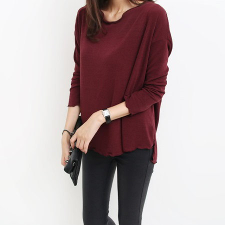 [Dimming] 4 Color Ruffle Nut Tee