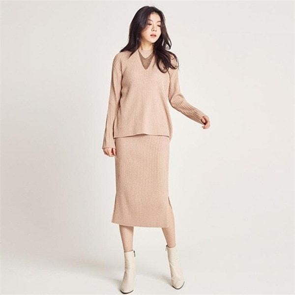 ツーウエー・ニットセットJ11PNT009new 女性ニット/ Vネックニット/韓国ファッション