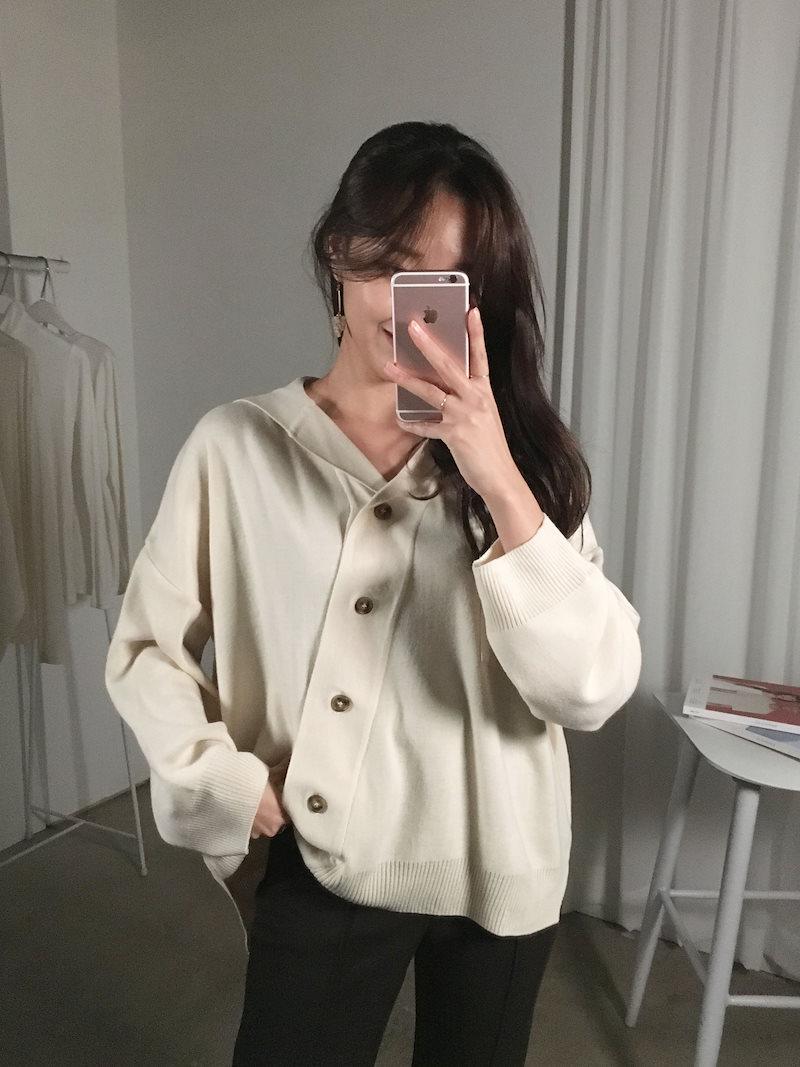 ランスデイリー斜線ルーズフィットニットkorea fashion style