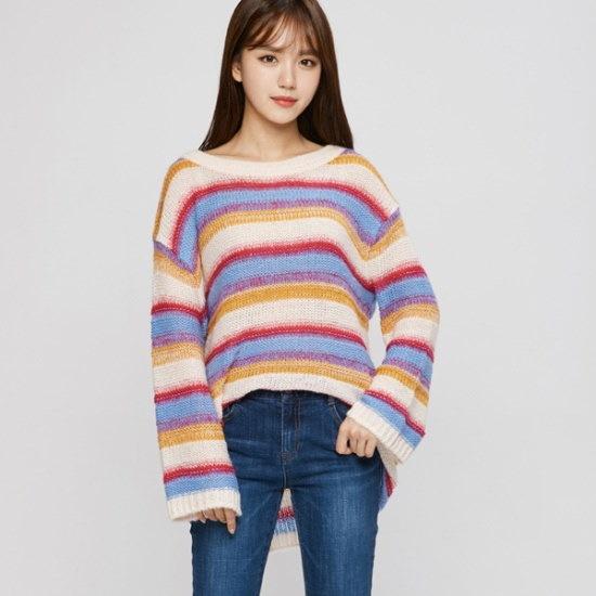 のエゴイストパクシピッ・ストライプニットEH4KL064 ニット/セーター/韓国ファッション