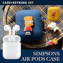 [AirPods Case] SIMPSONSシンプソンズ ケース2種 のキャラクターエア iphoneケース ヘアアイロン bluetooth イヤホン ケース 収納ケース 耐衝撃 保護 シリコン