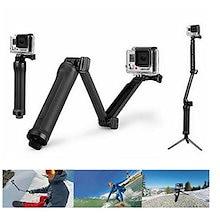 BesTim GoPro 対応 3Way 自撮り棒 軽量 握りやすい ラバーグリップ アングル調整