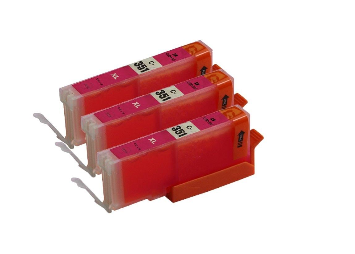 351XLM 3本セット 大容量 互換インクキャノンプリンター用互換インクタンク残量表示 ICチップ付