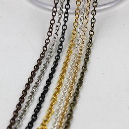 2メートル/ロット06(2 * 3ミリメートル)鉄チェーンシルバー/ゴールド/ブロンズのネックレスチェーン継手のためのネックレスのブレスレット