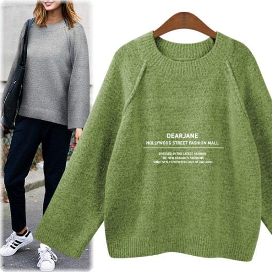 ディアジェーンピンタック・ラウンド・ニットM4019 ニット/セーター/ニット/韓国ファッション