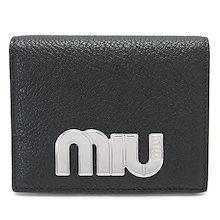844dd80016de ミュウミュウ 折財布 MIUMIU 5MV204 MADRAS MIU NERO/FUOCO 財布 二つ折り レザー バイ
