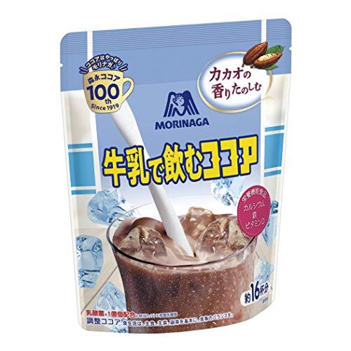 森永製菓 牛乳で飲むココア 200g4個 [栄養機能食品] カルシウム、ビタミンD、鉄