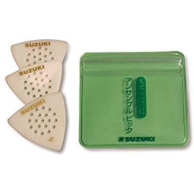 12 x Green Moto 4 Of Each Size In A Plectrum Tin Fender Celluloid Guitar Picks