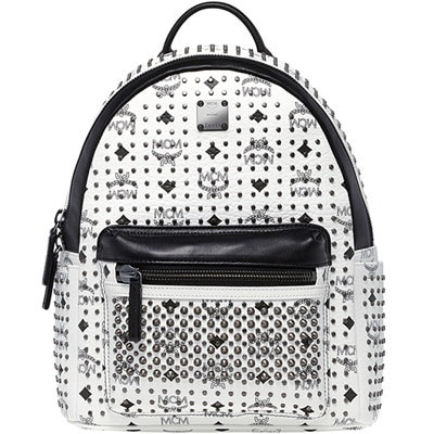 ★【MCM 正規品】★SS15 SPECIAL STARK SMALL BACKPACK★MMK5SVE96WT★【EMS無料発送】★