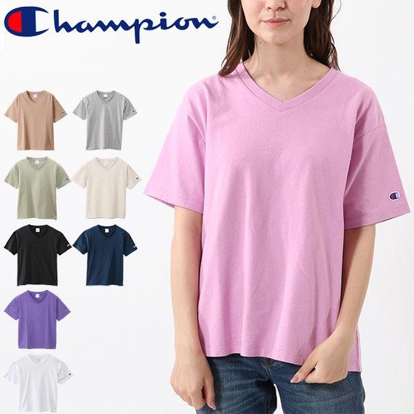Tシャツ 半袖 レディース チャンピオン champion BASIC Vネック TEE 半袖シャツ 無地 スポーツ カットソー トップス/CW-M323