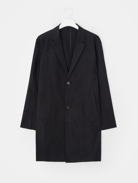 8SECONDS Linen Blended Single Coat - Black