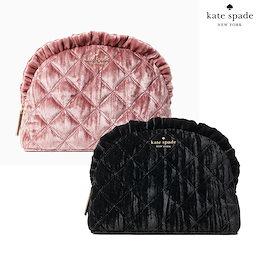 【USA速配送】Kate Spade ケイトスペード レディース化粧品ポーチトラベルnatalia crushed velvet small ruffle Travel WLR00261ポーチ