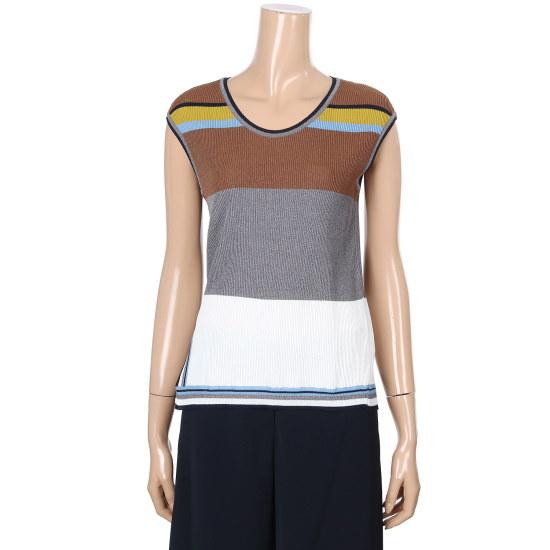 ナイスクルラプ配色ナシニートN172KSK022 ニット/セーター/韓国ファッション