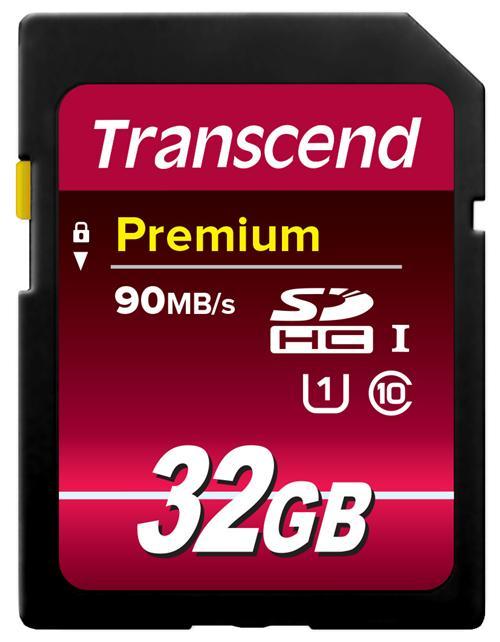 【正規国内販売代理店・ネコポス便送料無料】トランセンド[Transcend]32GB SDHCカードClass 10 UHS-I 400x (Prem