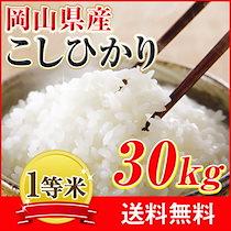 29年産岡山県産こしひかり30kg【5kg×6袋】クーポン使用可能