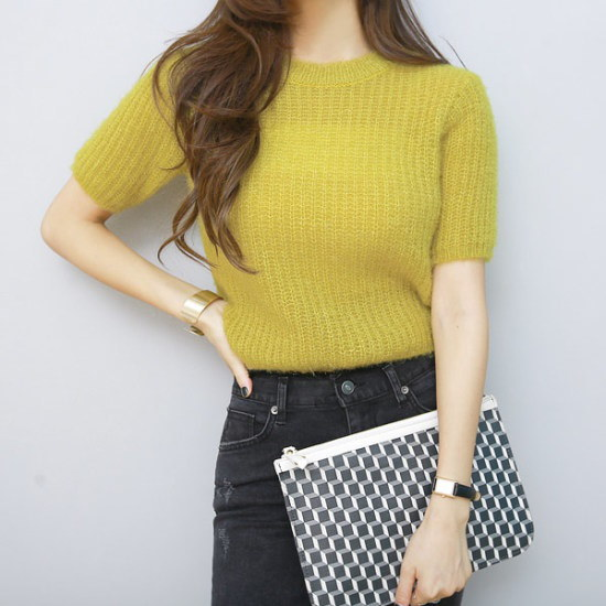 ピピンポグニ半袖一時ニット104429 ニット/セーター/ニット/韓国ファッション