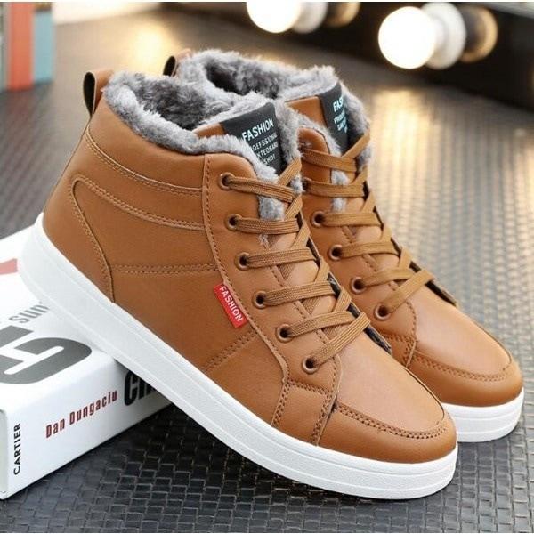 スノーブーツ 裏起毛 ワークブーツ ブーツ 保温 ボア付き メンズ メンズブーツ ショートブーツ カジュアルブーツ 滑り防止 防寒靴 レースアップ エスニック