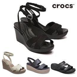 日本未入荷 [CROCS] Leigh Wedge Ankle Strap Sandals クロック