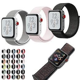 アップルウォッチ バンド スポーツループ  Apple applewatch  38mm 40mm 42mm 44mm Series1 Series2 Series3 Series4 時計ベルト 替え