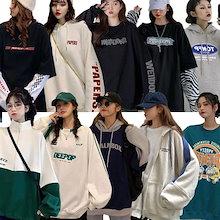 韓国ファッション長袖レディースTシャツ/パーカー/トレーナー/ルームウェア/大きいサイズ レディース