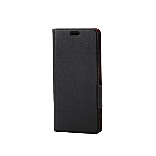 エレコム Xperia XZ3 ケース SO-01L SOV39 手帳型 レザー ウルトラスリム ICカード収納 サイドマグネットフラップ スタンド機能付き ブラック PM-XZ3PLFUBK