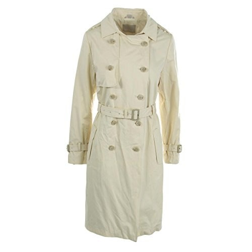 Soia & Kyo Womens Double-Breasted Solid Trench Coat Ivory XS