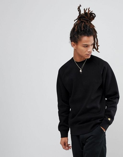 Carhartt WIP Chase Sweatshirt In Black