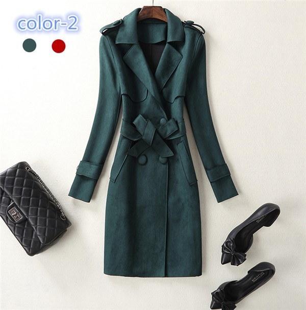 コートレディース トレンチコート ロングコート 薄手 Wボタン ファッション 着心地よい 春新作 通勤 きれいめ春コート レディースコート