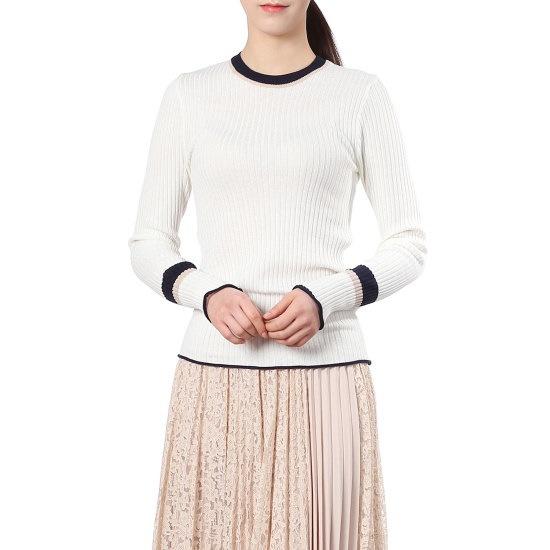 プラスチックアイルランド小売配色ニートPH2KL302 ニット/セーター/韓国ファッション