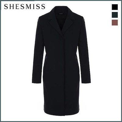 [シーズ・ミス]、シーズ・ミスツイルシンプルロングジャケットSWWJKH30020 /テーラードジャケット/ 韓国ファッション