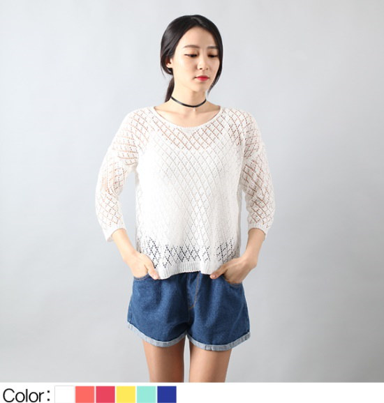 ピトンジンピトンジンYU 1422女碁盤スカジーラウンド8部小売ニットティーD ニット/セーター/ニット/韓国ファッション