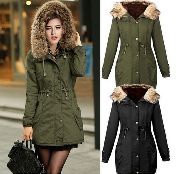 Women s Fashion Winter Coat Lady Fur Jacket Outwear Plus Size (Size:S-3XL.