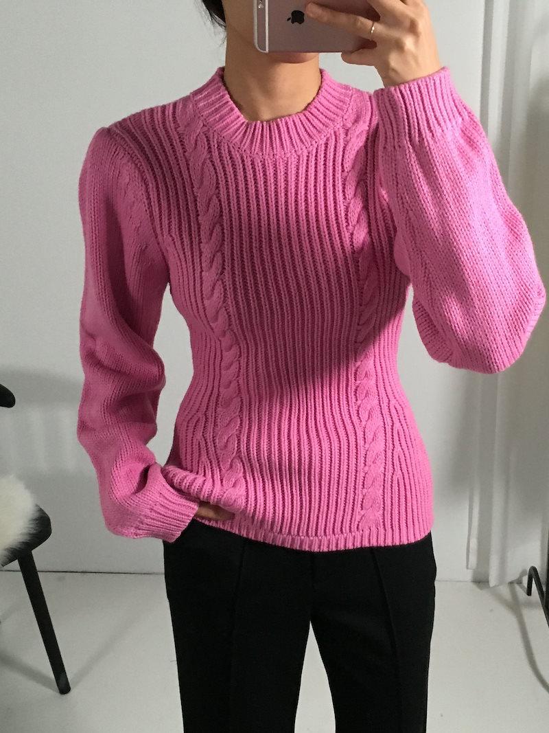 イエローデイリーフェミニンラインニットkorea fashion style