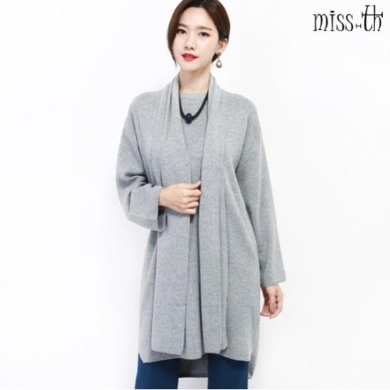 ミスティーに一ルーズフィットロング・ニットマフラーセット ロングニット/ルーズフィット/セーター/韓国ファッション
