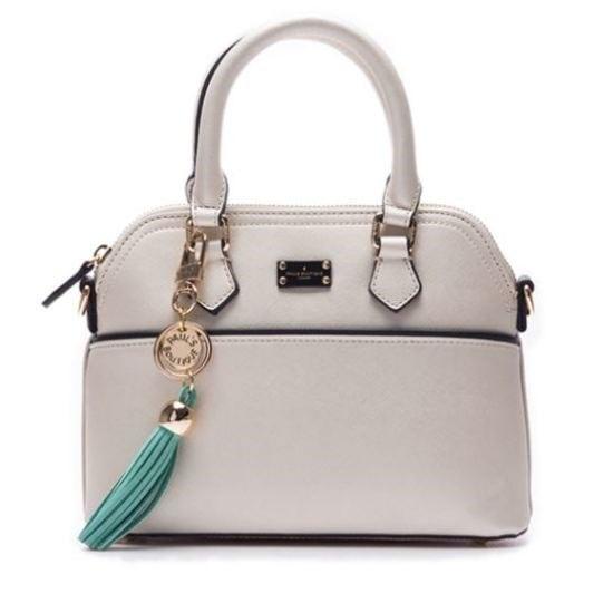 セントポールズ・ブティック雑貨PE5WHADM040SWTミドル明治シャイニーホワイト トートバッグ / 韓国ファッション / Tote bags