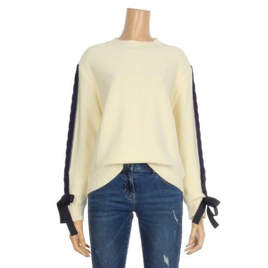 つけた小売配色のリボンストラップウール・ニットMHGBY077 ニット/セーター/韓国ファッション