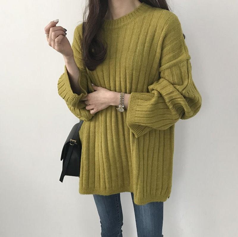 [by yam] これ一着で簡単にトレンドスタイルを作れる!ビッグシルエットな太リブニット