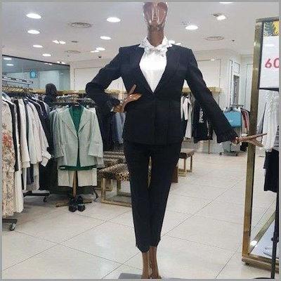 [東邦(女性衣類)]小売ポイントスリムジャケット(DS210150/ブラック) /テーラードジャケット/ 韓国ファッション