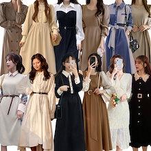 秋冬新入荷 ワンピース バーゲンセール 秋服 ロングワンピース韓国ファッション限定発売ドレス韓国