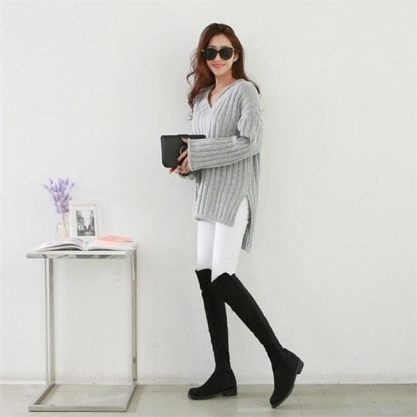 ピピンヘルディブイネク・ニット104913 new 女性ニット/ Vネックニット/韓国ファッション