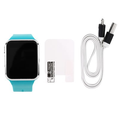 1.54 LCD Touch Screen Unisex Bluetooth Smart Watch Sport Heart Rate Time Blue